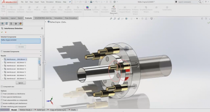 Create a Finite Element Analysis (FEA) Configuration of a Complicated Assembly in SOLIDWORKS