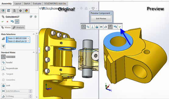 Component Preview Window in SOLIDWORKS 2016
