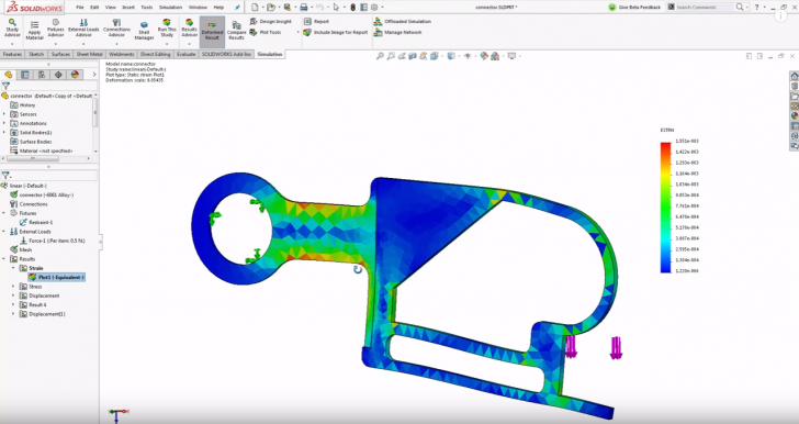 What's New 2017: Convert a Static Study to a New Study in SOLIDWORKS Simulation