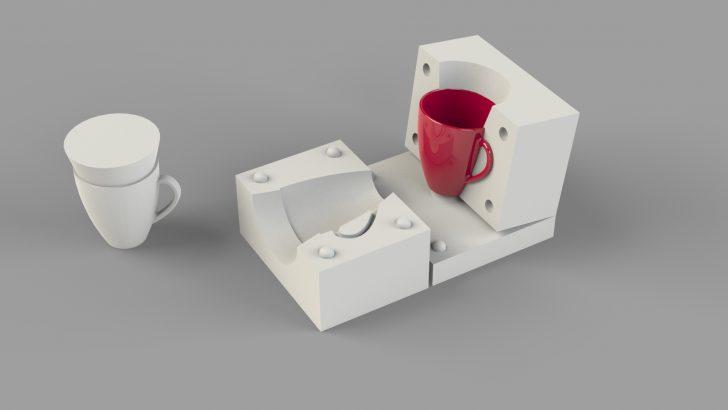 Ceramic Cup Plaster Mold Tutorial