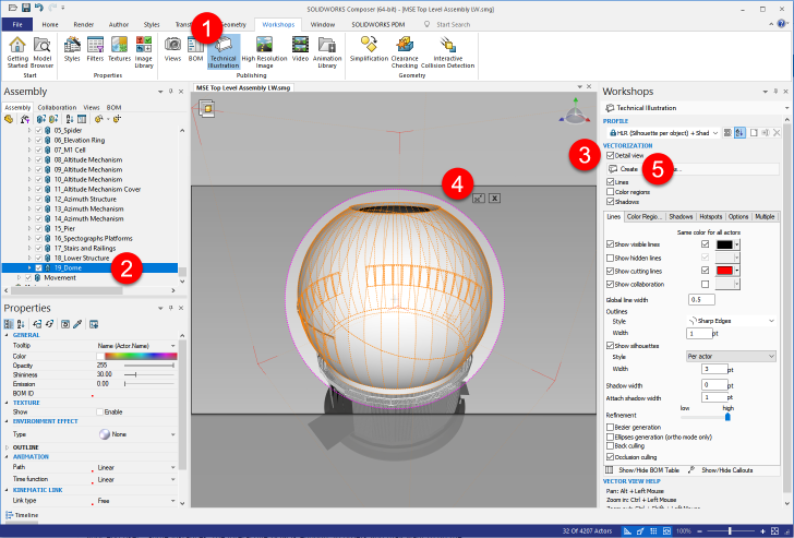 Making Custom Views More Intelligent with SOLIDWORKS Composer