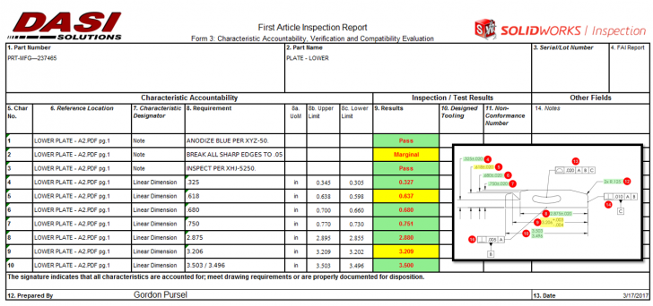 Customizing SOLIDWORKS Inspection Reports – Part 1