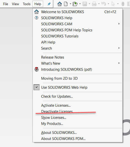 How to deactivate your SOLIDWORKS License