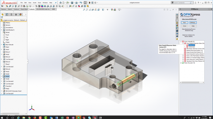 SOLIDWORKS Tech Tip – Using DFMXpress