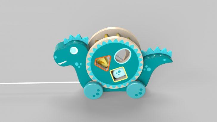 Dinosaur Pull Along Toy Tutorial