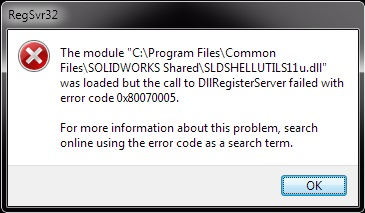 Registering a DLL in SOLIDWORKS