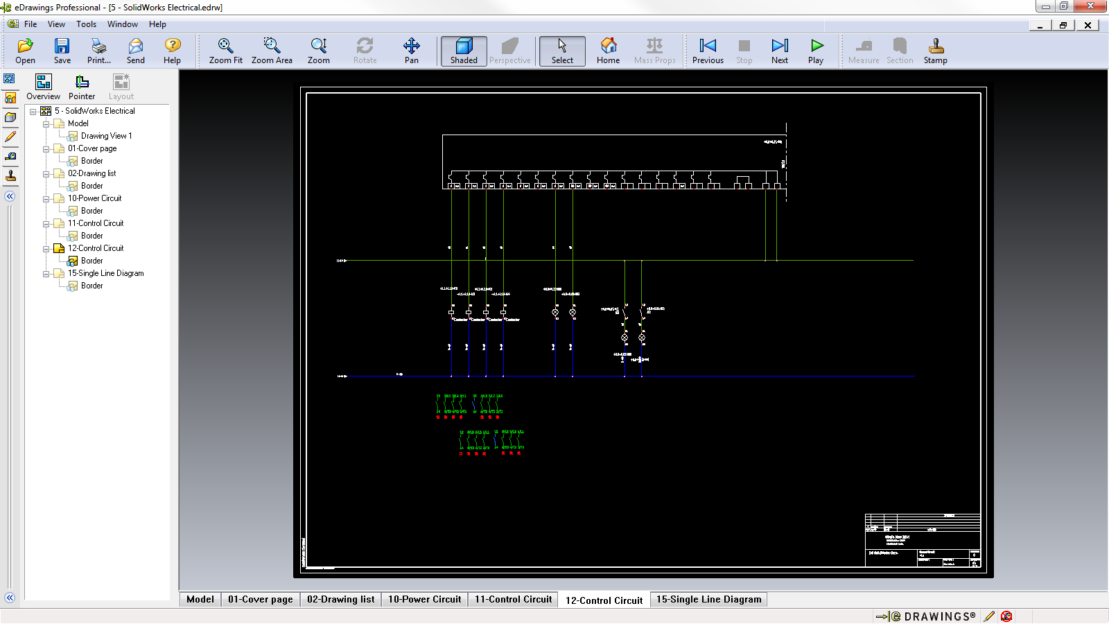 eDrawings 2014 now supports SOLIDWORKS Electrical Schematics.
