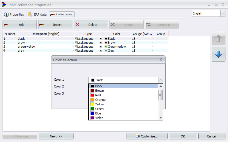 SOLIDWORKS ELECTRICAL – Color to Number Conversions