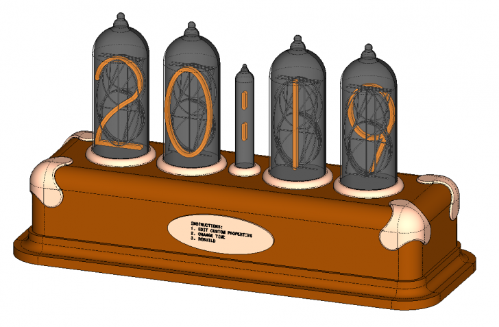 SOLIDWORKS Part Reviewer: Equation Driven Nixie Tube Clock