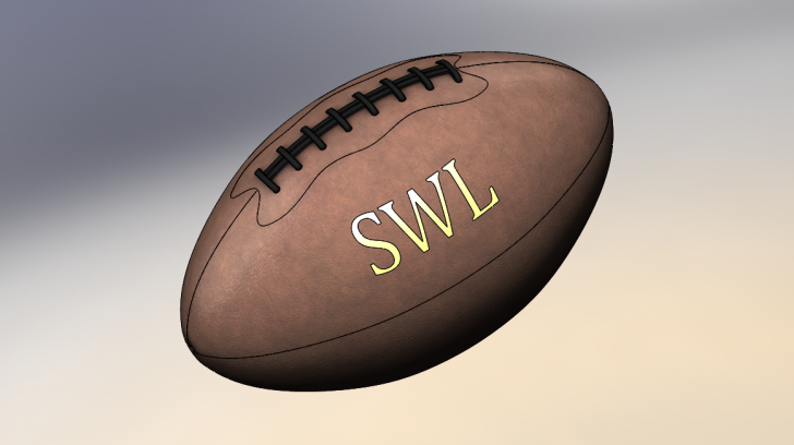 SOLIDWORKS Part Reviewer: Football Tutorial