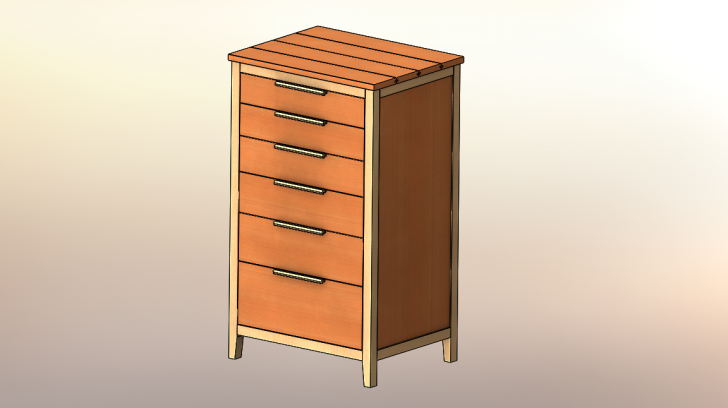 SOLIDWORKS Part Reviewer: Chest of Drawers Tutorial