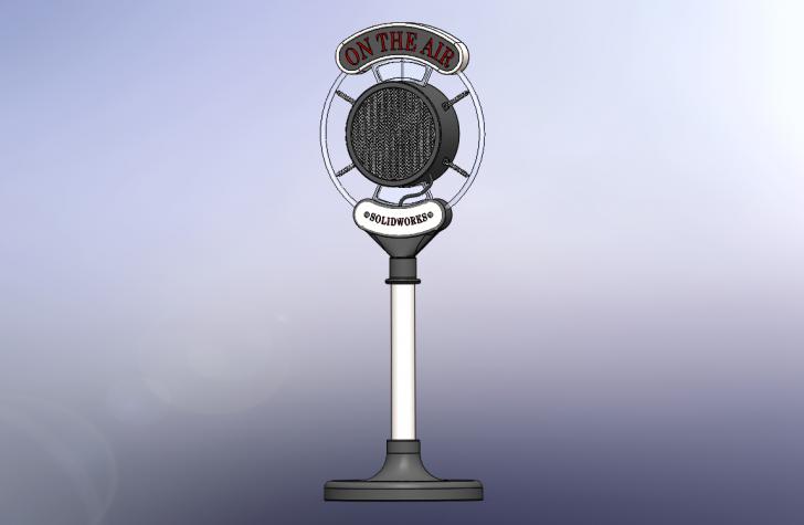 SOLIDWORKS Part Reviewer: Vintage Microphone Tutorial
