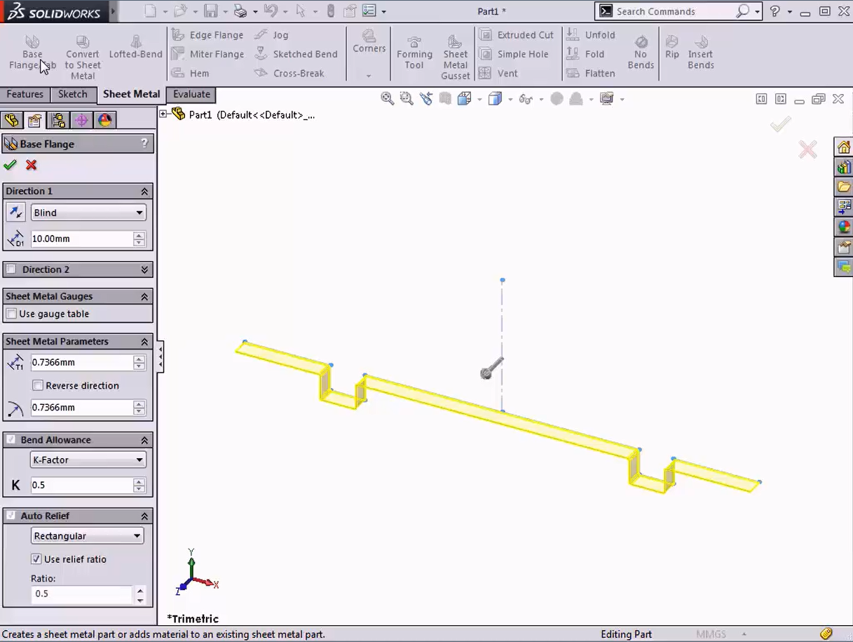 Solidworks Tech Tip Intro To Sheet Metal