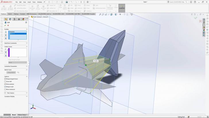Geometric Shark – SOLIDWORKS