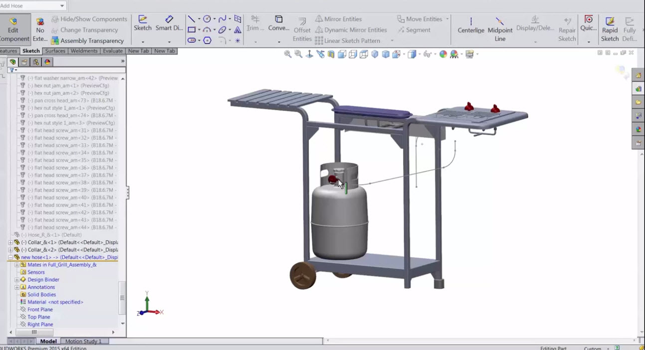 SOLIDWORKS Projected Curve – Sketch on faces & Sketch on sketch