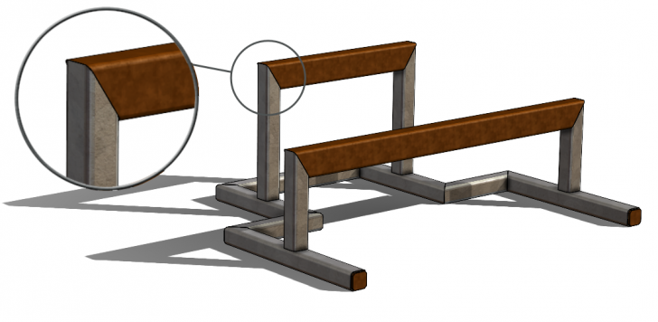 Miter Joints with Different Sized Weldment Profiles in SOLIDWORKS 2021