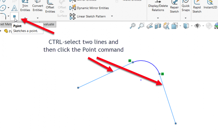 SOLIDWORKS How-To: Create Virtual Sharps in Sketches