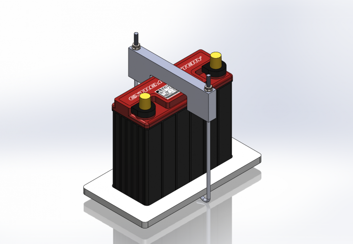 SOLIDWORKS Part Reviewer: Battery Hold Down Assembly Tutorial
