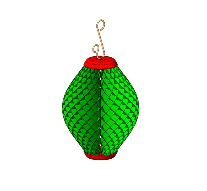SOLIDWORKS Part Reviewer: Honeycomb Foil Ornament