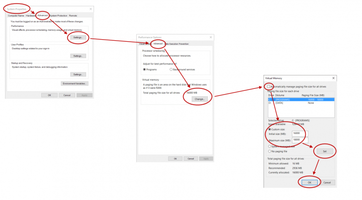 Adjusting Virtual Memory (Windows Pagefile) for increased SOLIDWORKS Performance