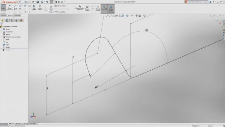 An Option to Reverse Arc and Spline Tangency is Now Available with SOLIDWORKS 2018