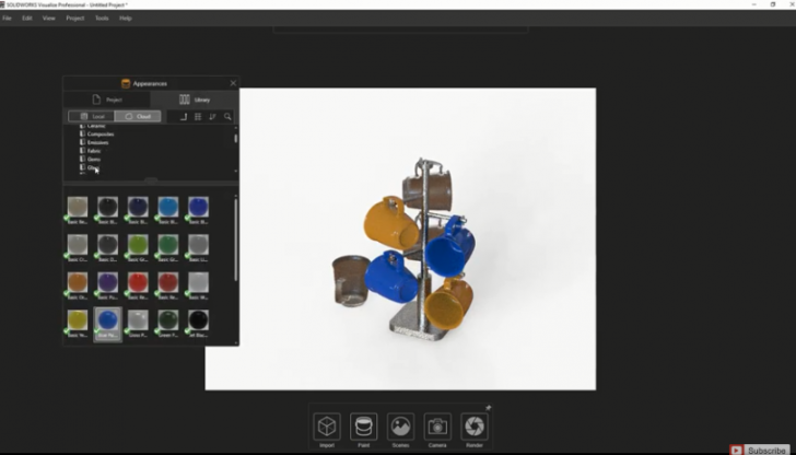 Create High Quality Renderings in SOLIDWORKS Visualize Faster Using Easy Mode