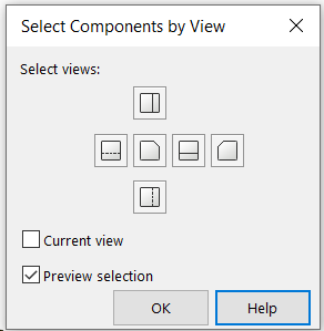 Select components by view