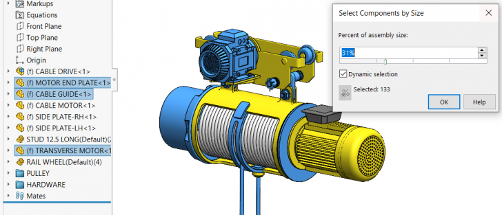 SOLIDWORKS Quick tips – Advanced Component Selection