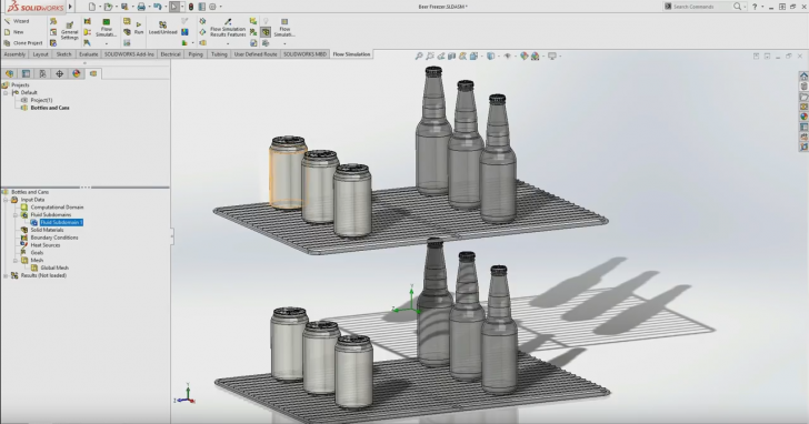 Cooling Down Beer in Your Freezer with SOLIDWORKS Simulation