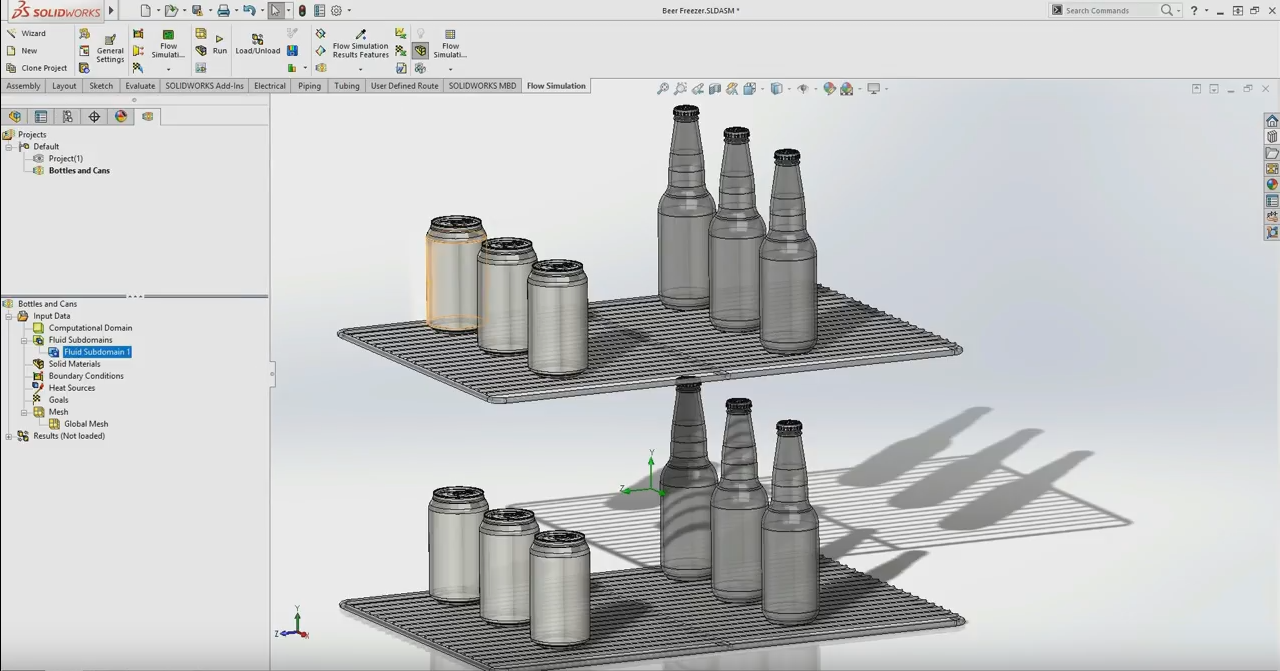 Cooling Down Beer In Your Freezer With Solidworks Simulation Piping Diagram