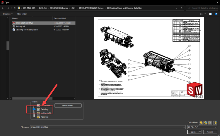 What's New in SOLIDWORKS 2021-Detailing Mode