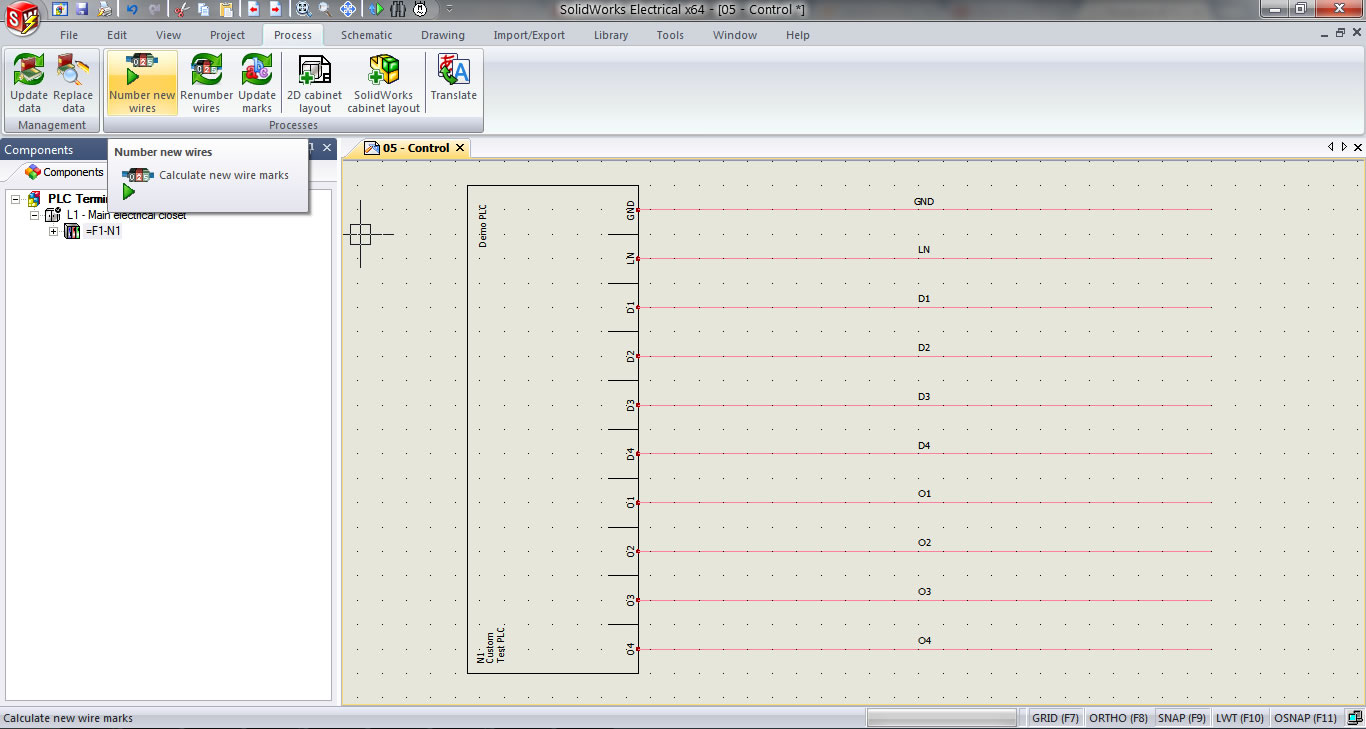 Plc I O Wire Numbering In Solidworks Electrical Wiring Schematic Program Number New Wires