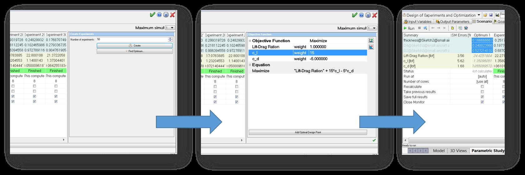 Flow Simulation 2017 Multiparametric Optimization output