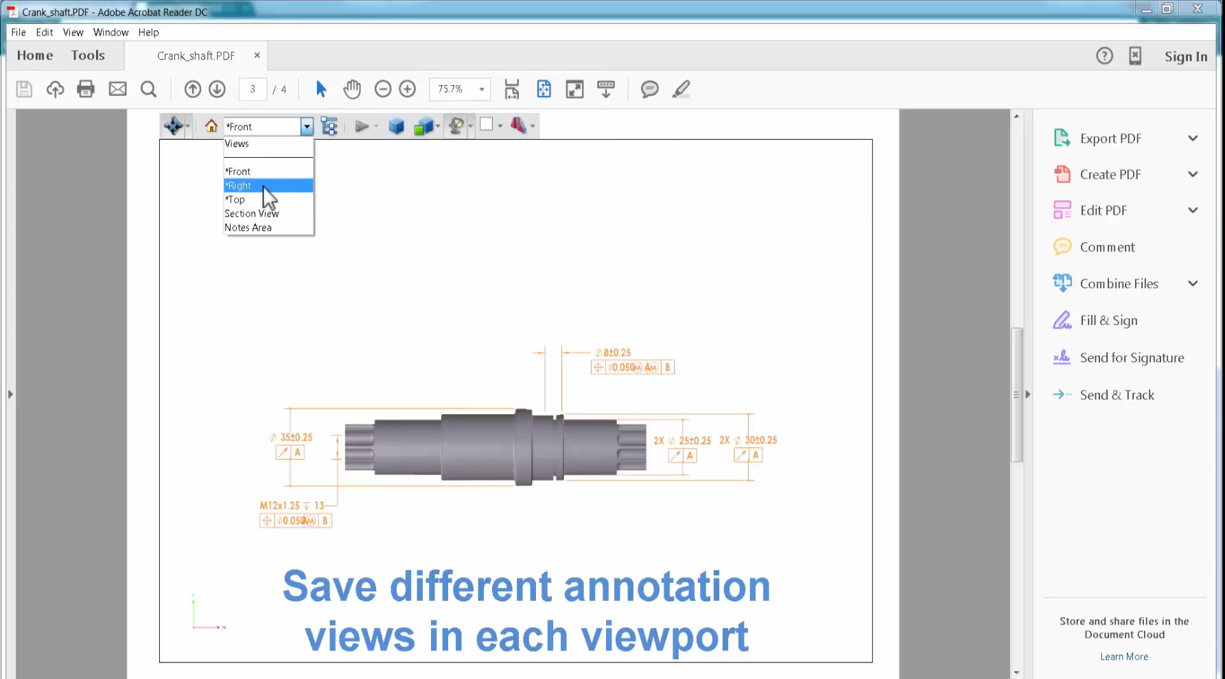 How To Publish A 3d Pdf With Solidworks Mbd
