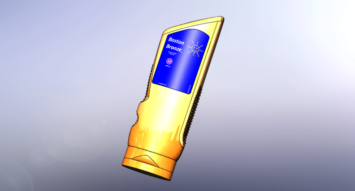 SOLIDWORKS Part Reviewer: Sunscreen Lotion Bottle Tutorial
