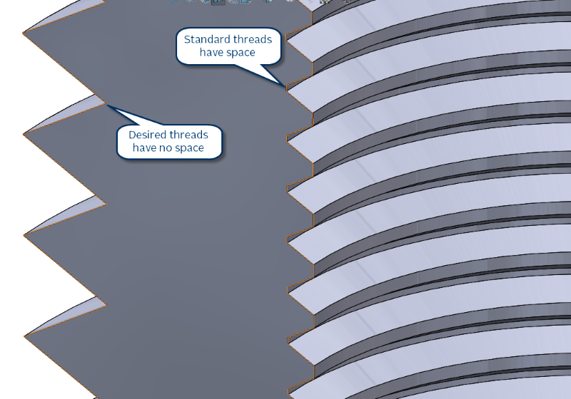 Sharp vs. Standard threads in SOLIDWORKS