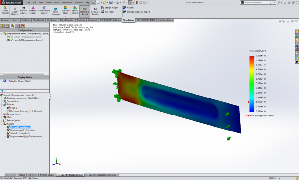 SOLIDWORKS Simulation – Using Specific Displacement in Design