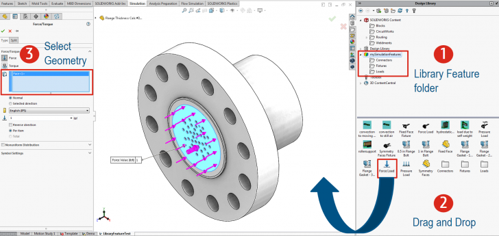 SOLIDWORKS Tech Tip – Simulation Productivity Tools: LIBRARY FEATURES