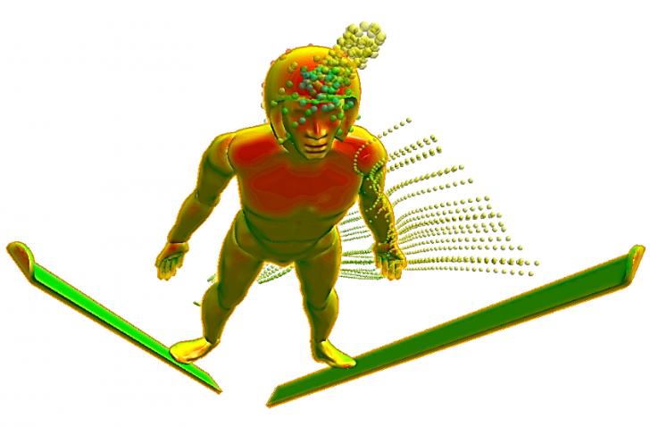 SOLIDWORKS Flow Simulation – Ski Jumping