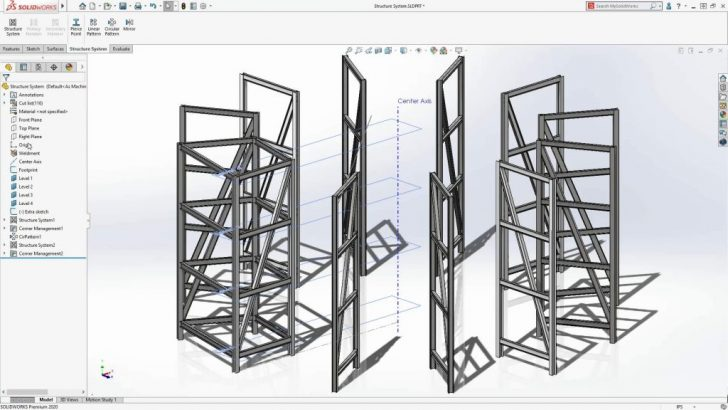 SOLIDWORKS 2020 Benefits of the Structure System Tool