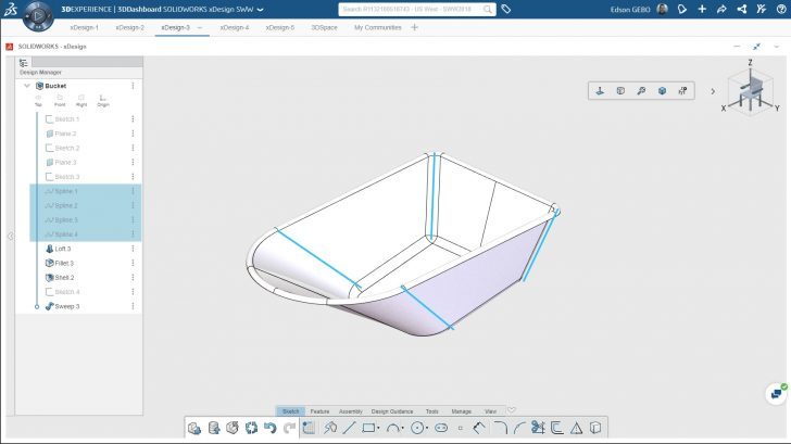 Using xDesign features to create a Wheelbarrow