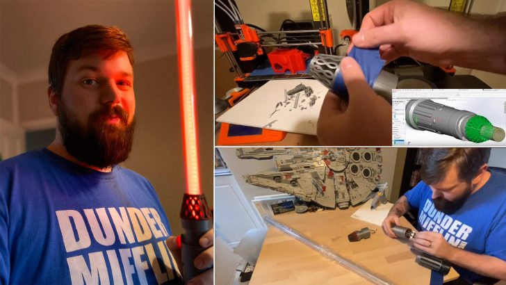 """Kirby Made His Own """"Star Wars: The Rise of Skywalker"""" Lightsaber"""