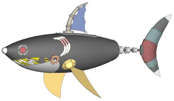 SOLIDWORKS Part Reviewer: Steampunk Shark
