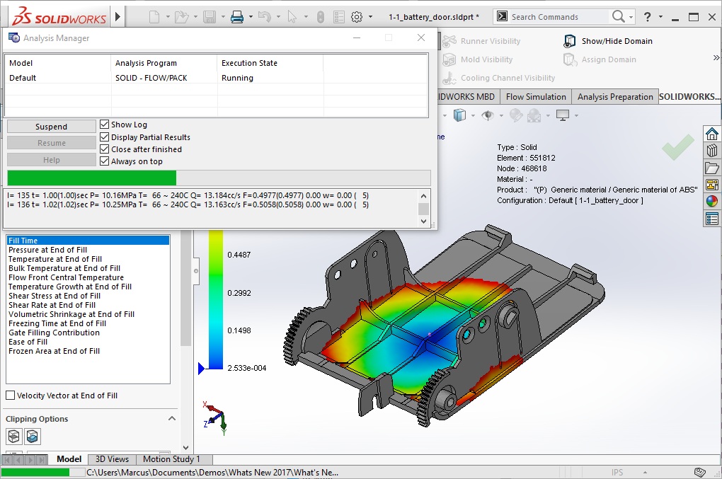 Getting Started with SOLIDWORKS Plastics