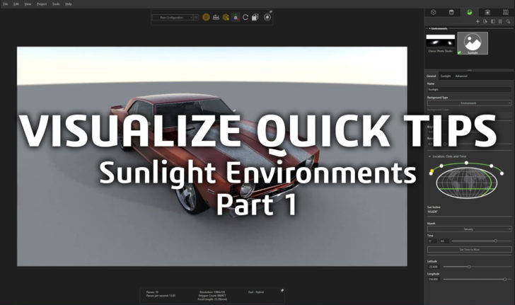 SOLIDWORKS Tech Tip – Sunlight Environments Part 1