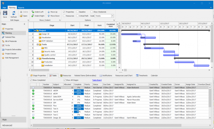 SOLIDWORKS Manage – Advanced Project Data and Resources Management