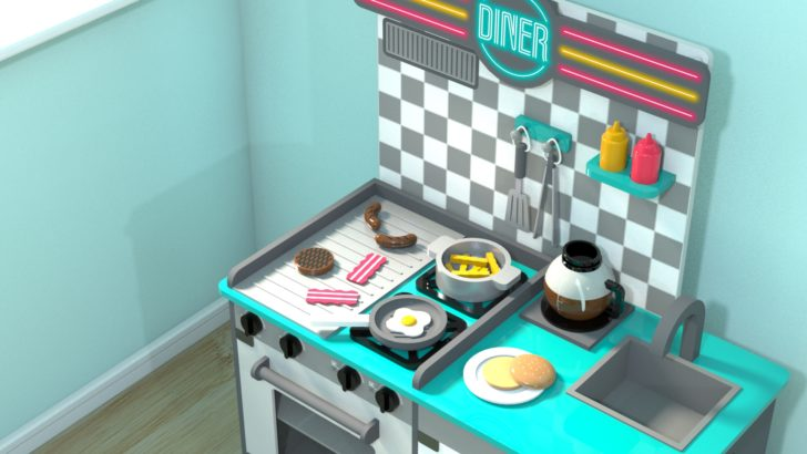 Toy Diner Kitchen – Part 2 – Tutorial