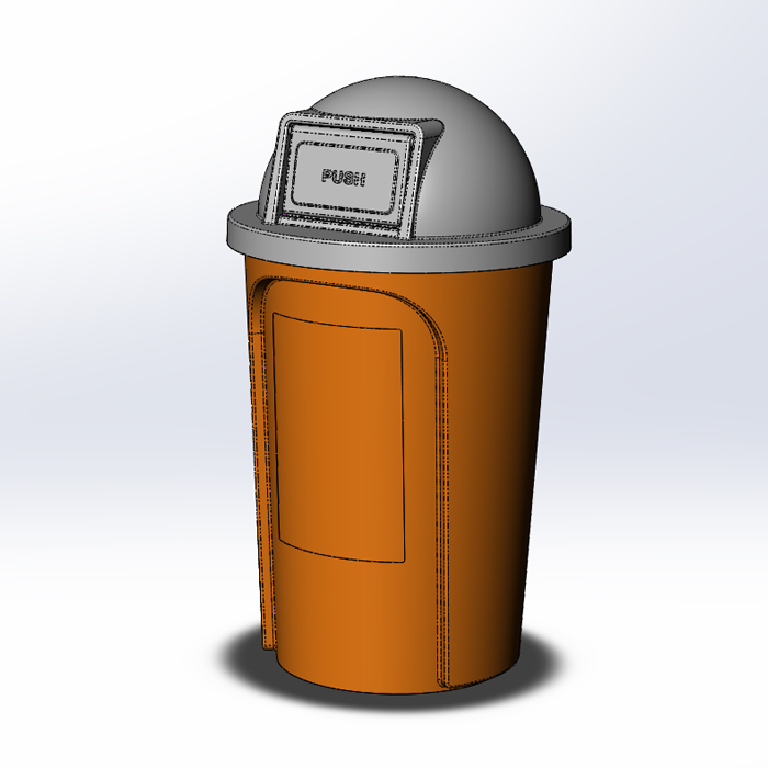SOLIDWORKS Part Reviewer: Trash Receptacle Assembly Tutorial