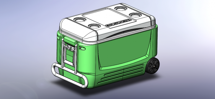 SOLIDWORKS Part Reviewer: Rolling Cooler