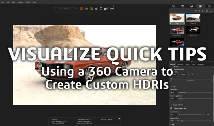 SOLIDWORKS Tech Tip  – Using a 360 Camera to Create Custom HDRs